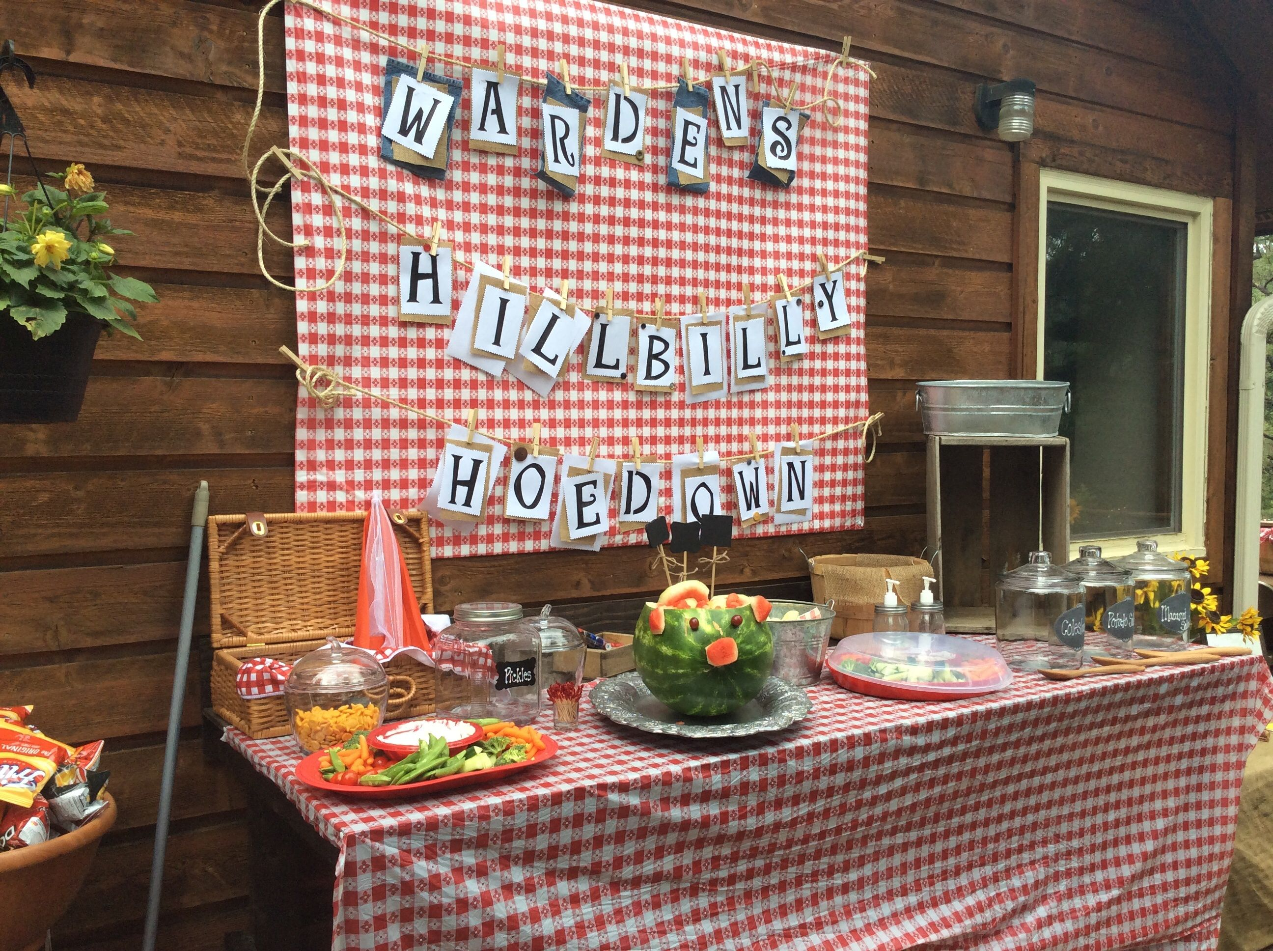 Food Table For Hillbilly Party Birthday