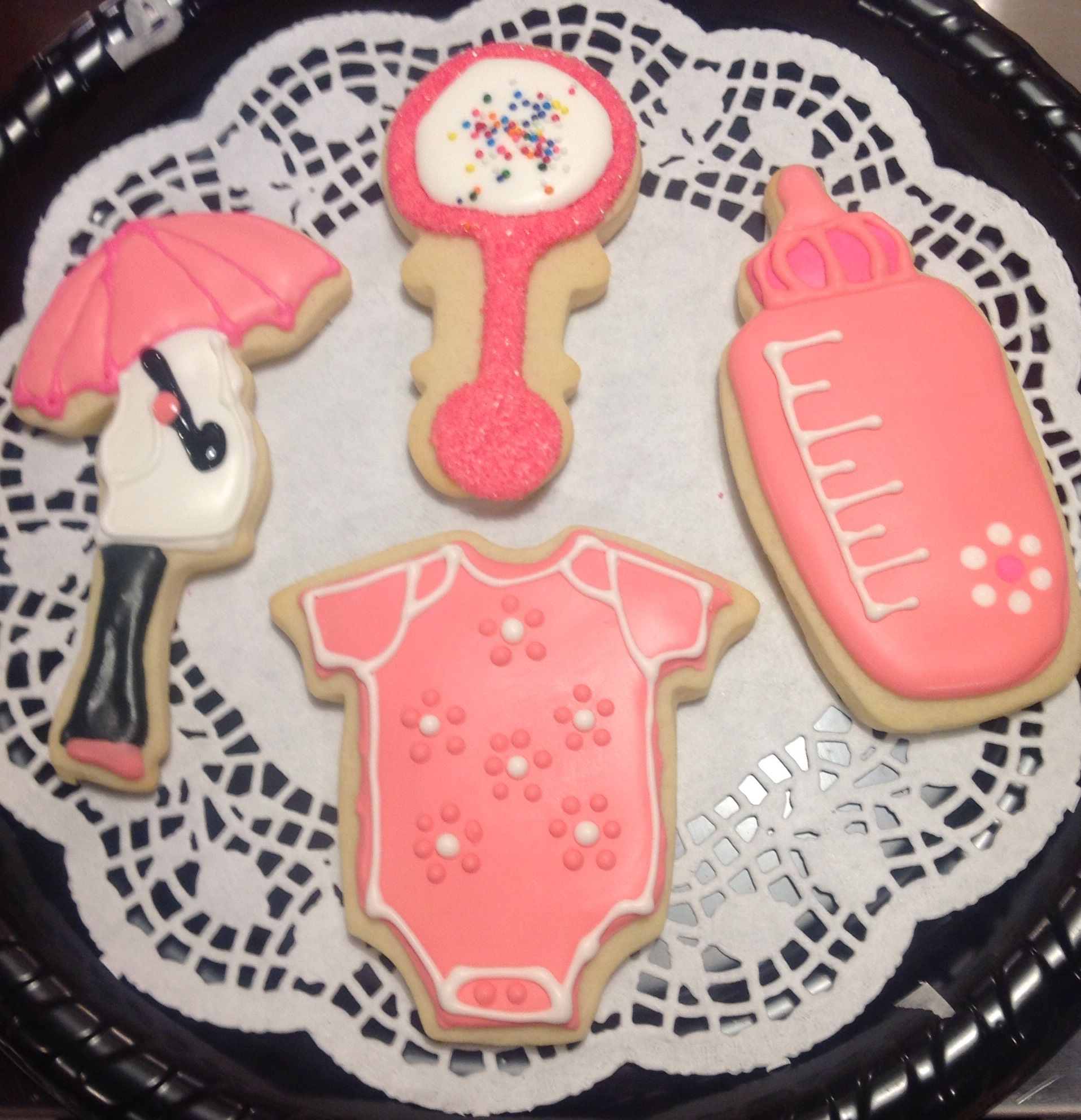 girl baby shower cookies michelle 39 s couple baby shower pinterest