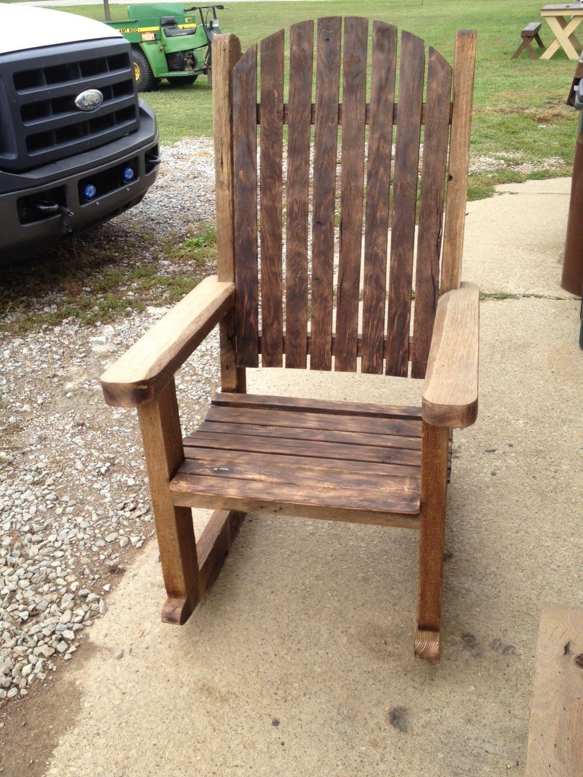 Barn wood rocking chairs  Barn wood ideas  Pinterest