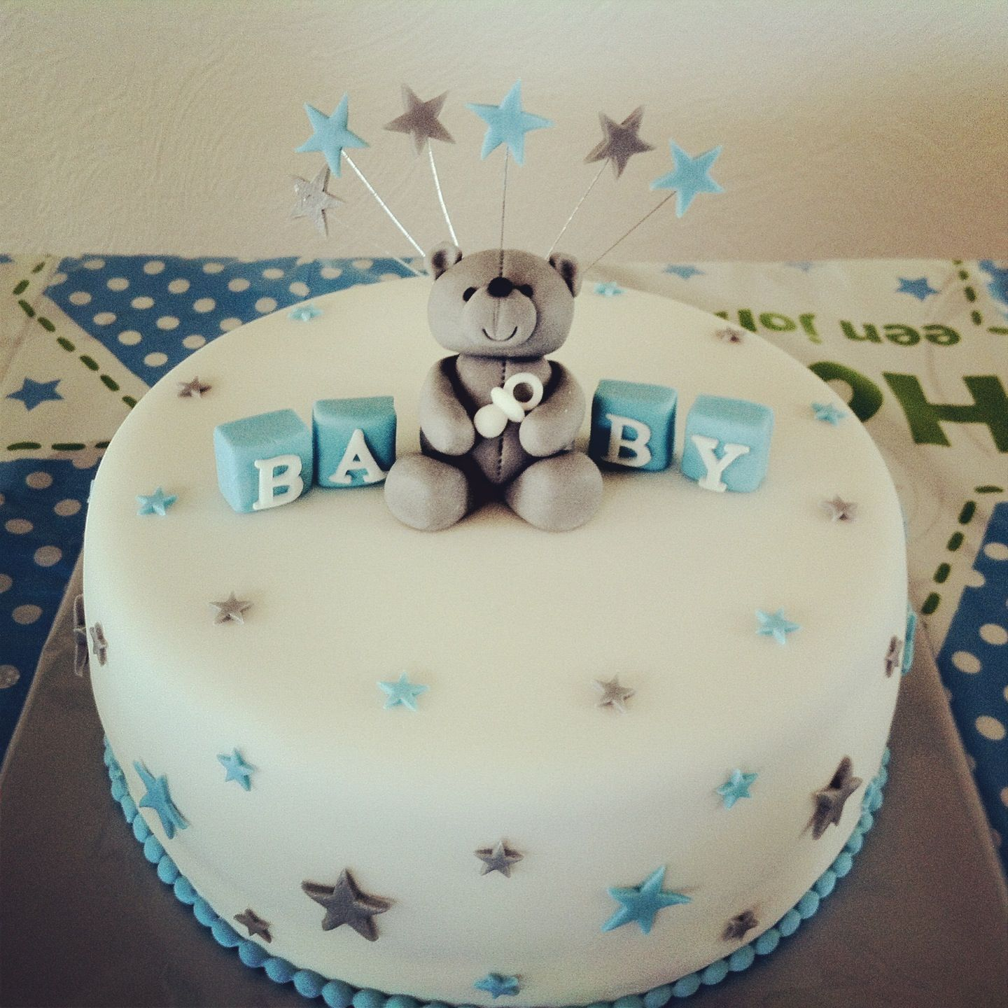 Baby shower cake boy Oppa baby style Pinterest
