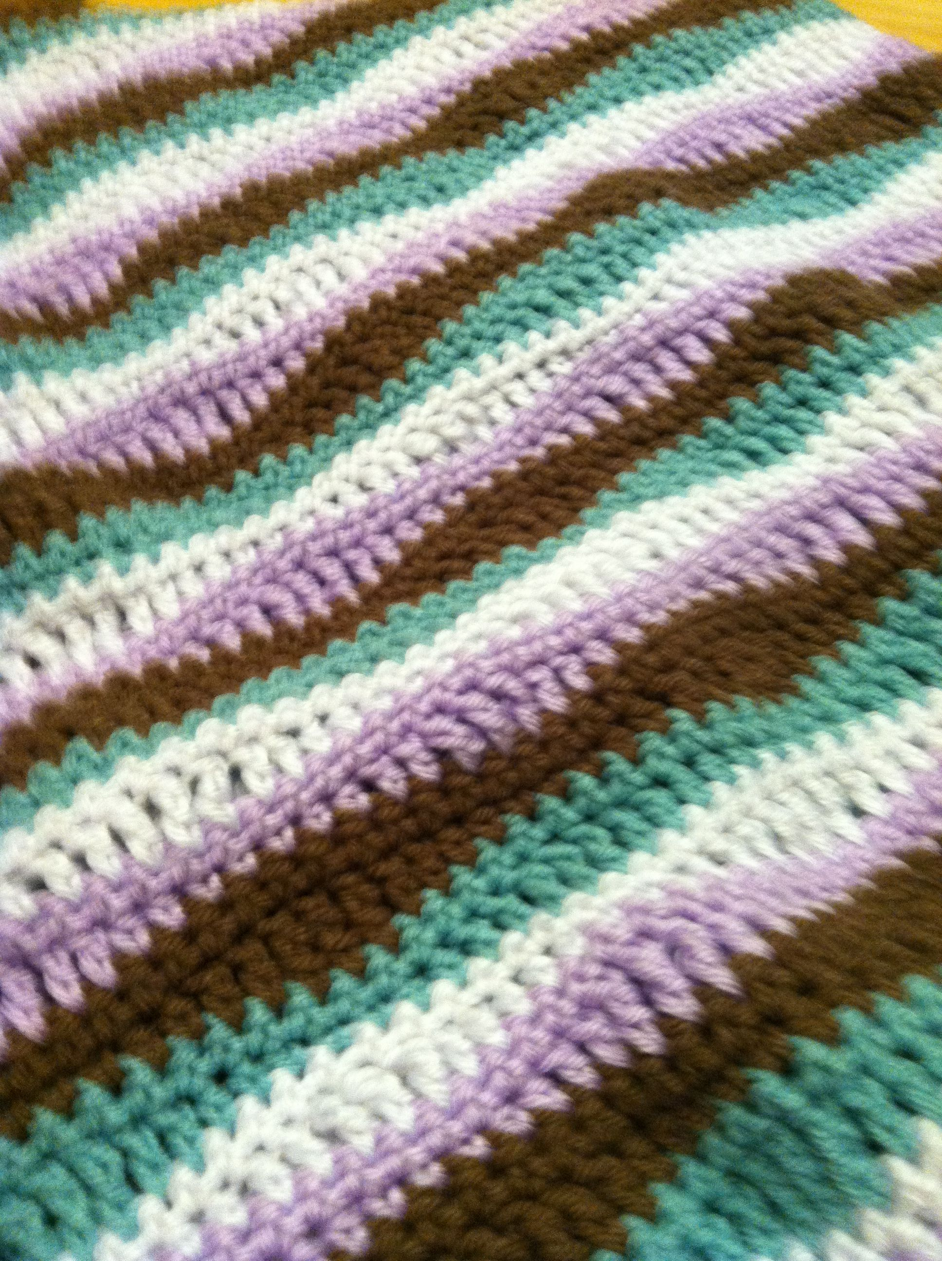 Wave stitch afghan. crochet Pinterest