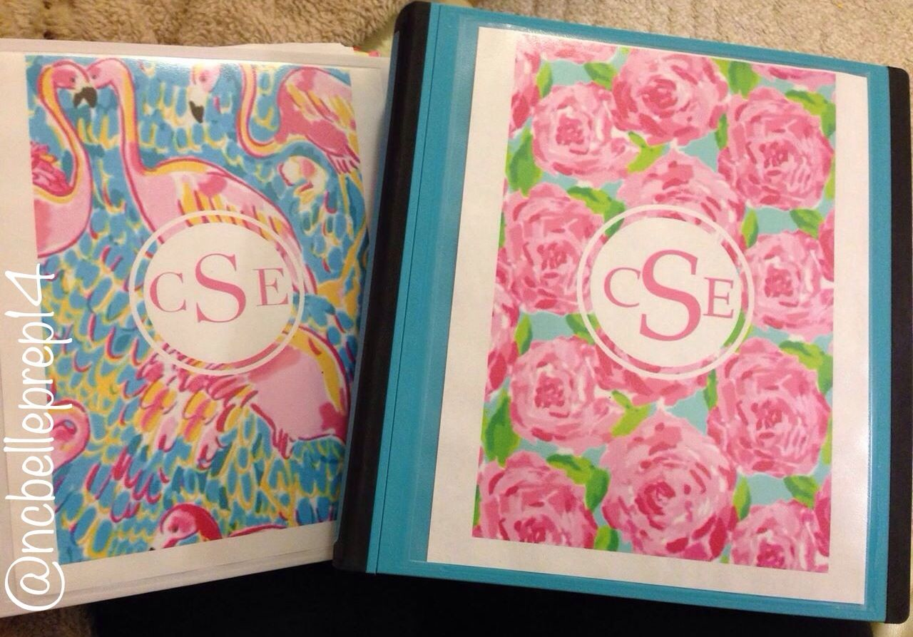 Lilly pulitzer binder covers lilly pulitzer pinterest