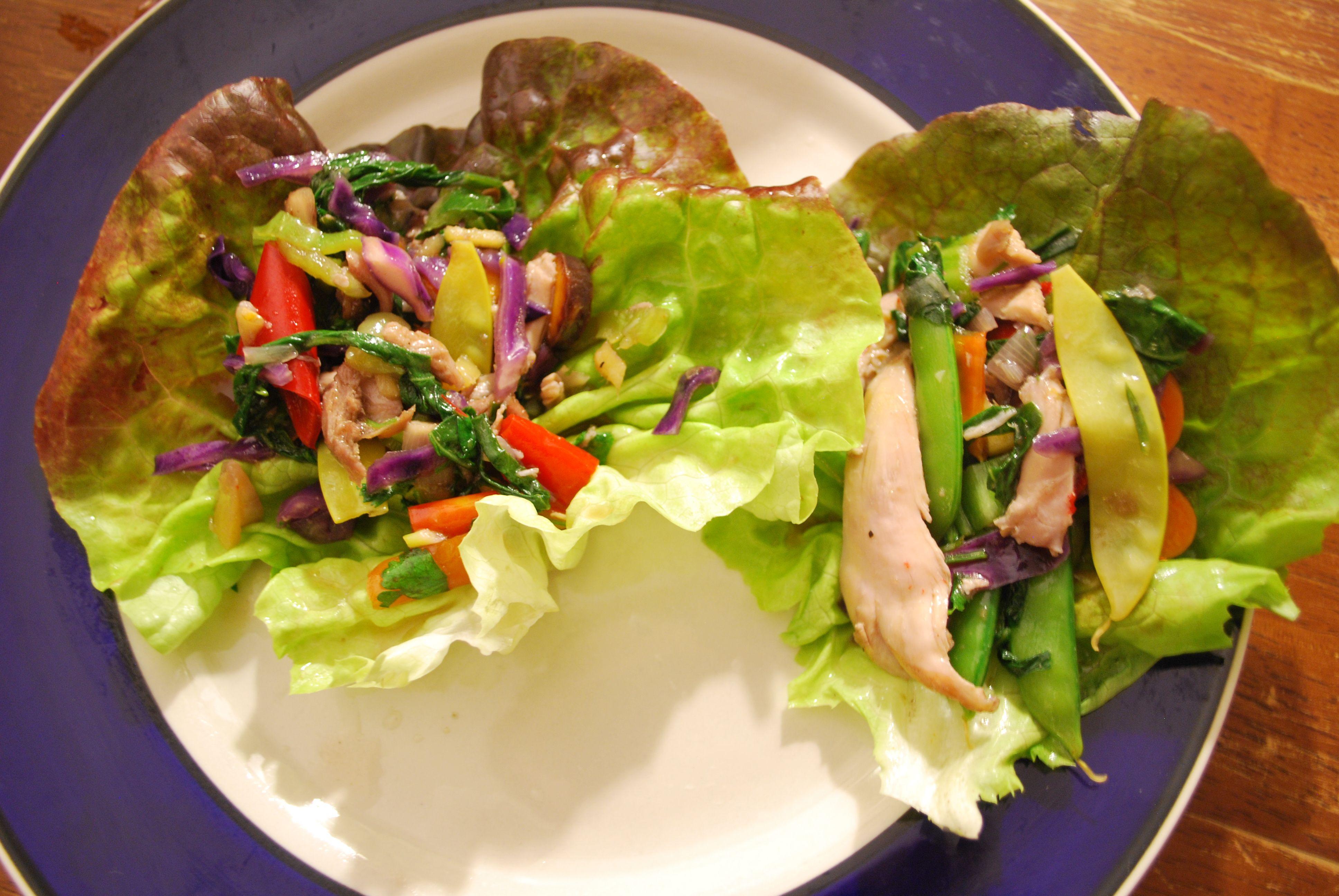 ... thai basil turkey lettuce wraps recipes dishmaps thai basil turkey