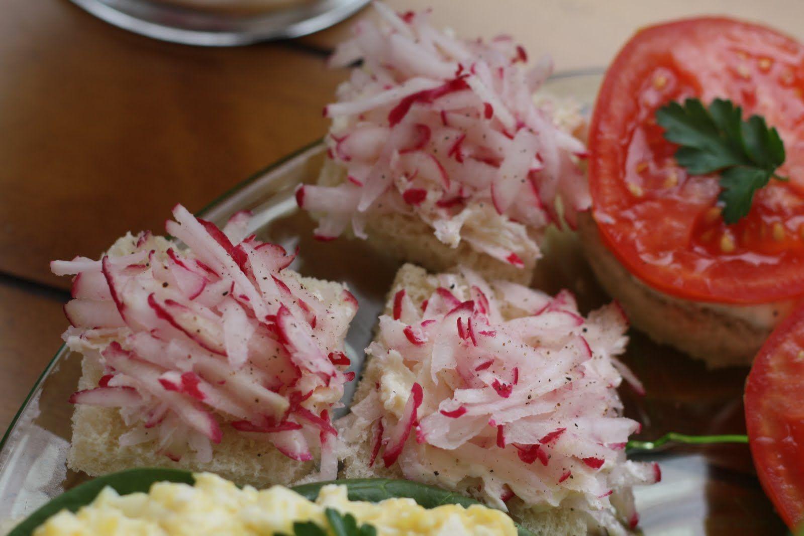 Radish finger sandwiches | High Tea | Pinterest
