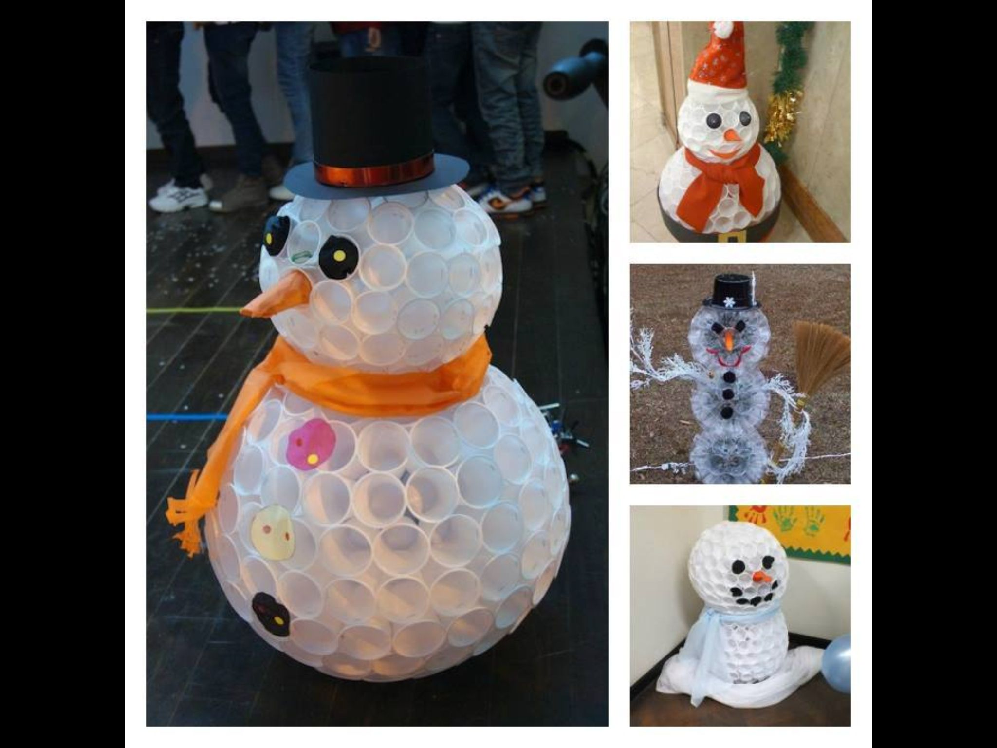 Plastic cups snowman arts and crafts pinterest for Plastic snowman