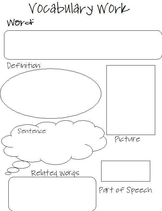 New vocabulary worksheet : I love teaching : Pinterest