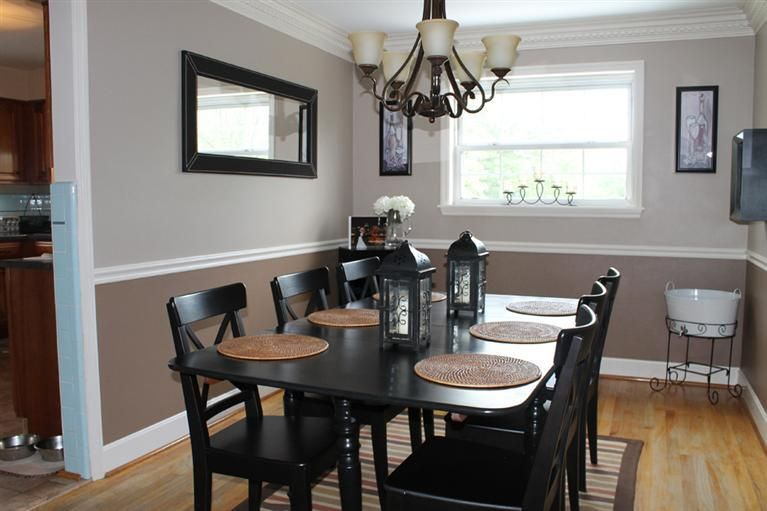 2 tone walls for the dining room house and home pinterest Two color rooms