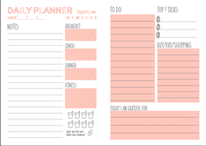 Cute Daily Agenda Template 2015 – Printable Editable Blank ...