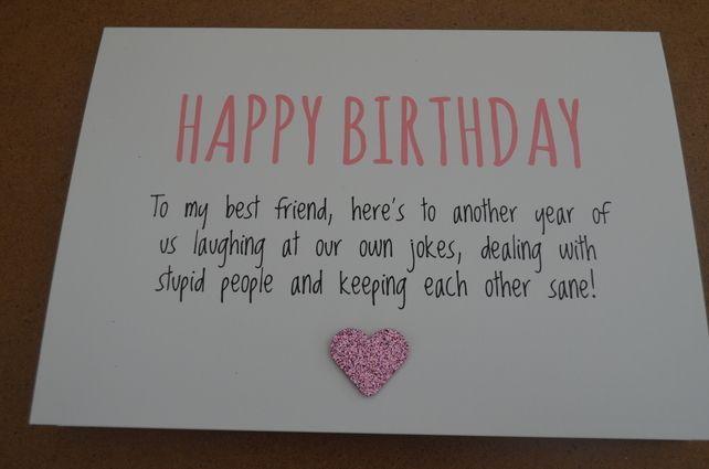 Humourous Best Friend Birthday Card 1 99 Stuff Pinte