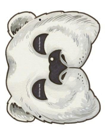 Как сделать маску белого медведя своими руками