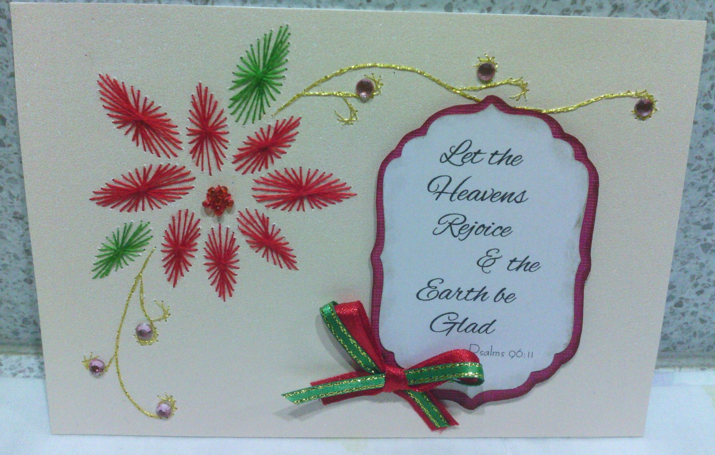 Embroidery Christmas Card  Cards  Pinterest