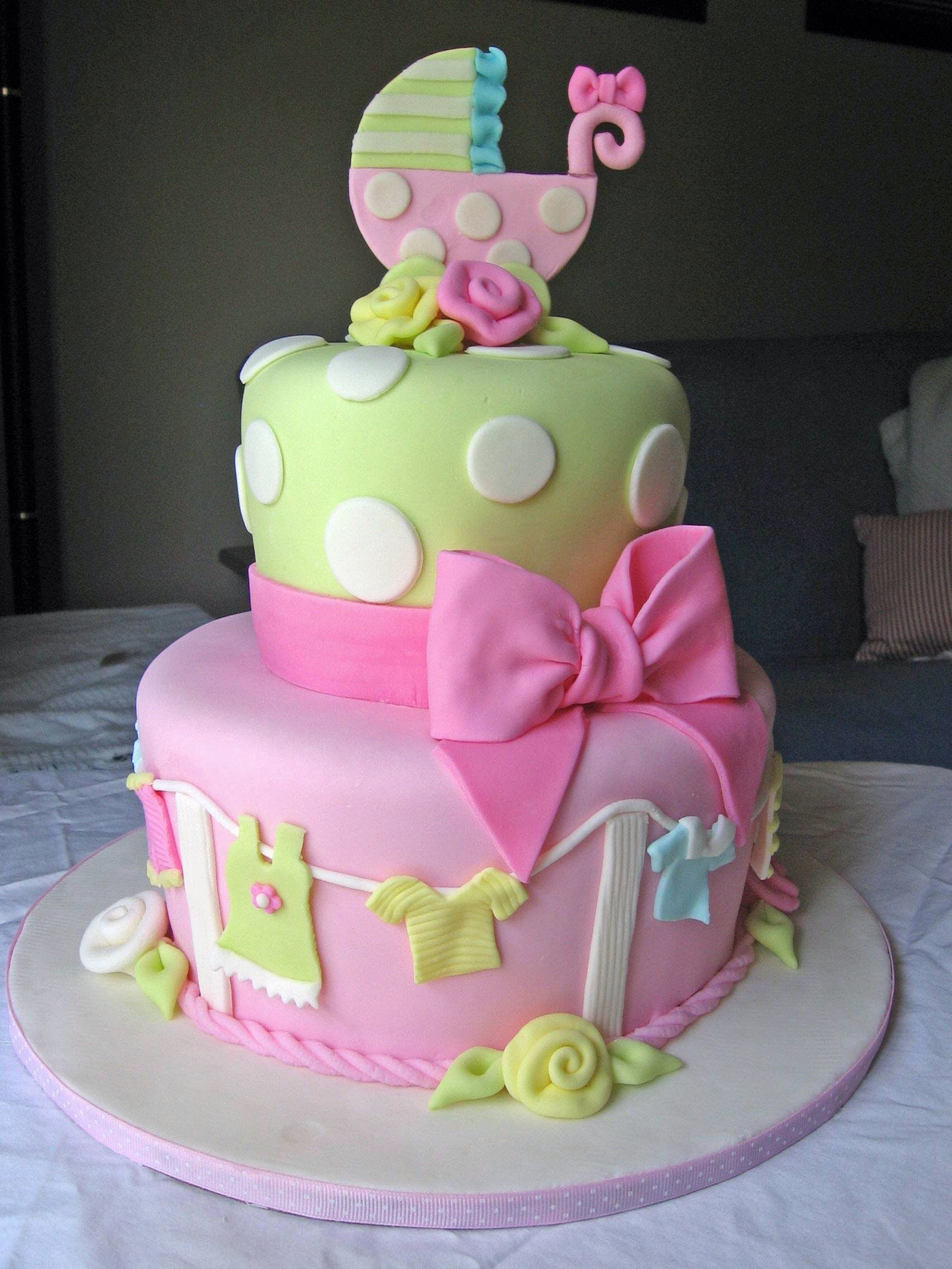 Cute Baby Cake Images : Cute baby girl shower cake Baby Stuff Pinterest