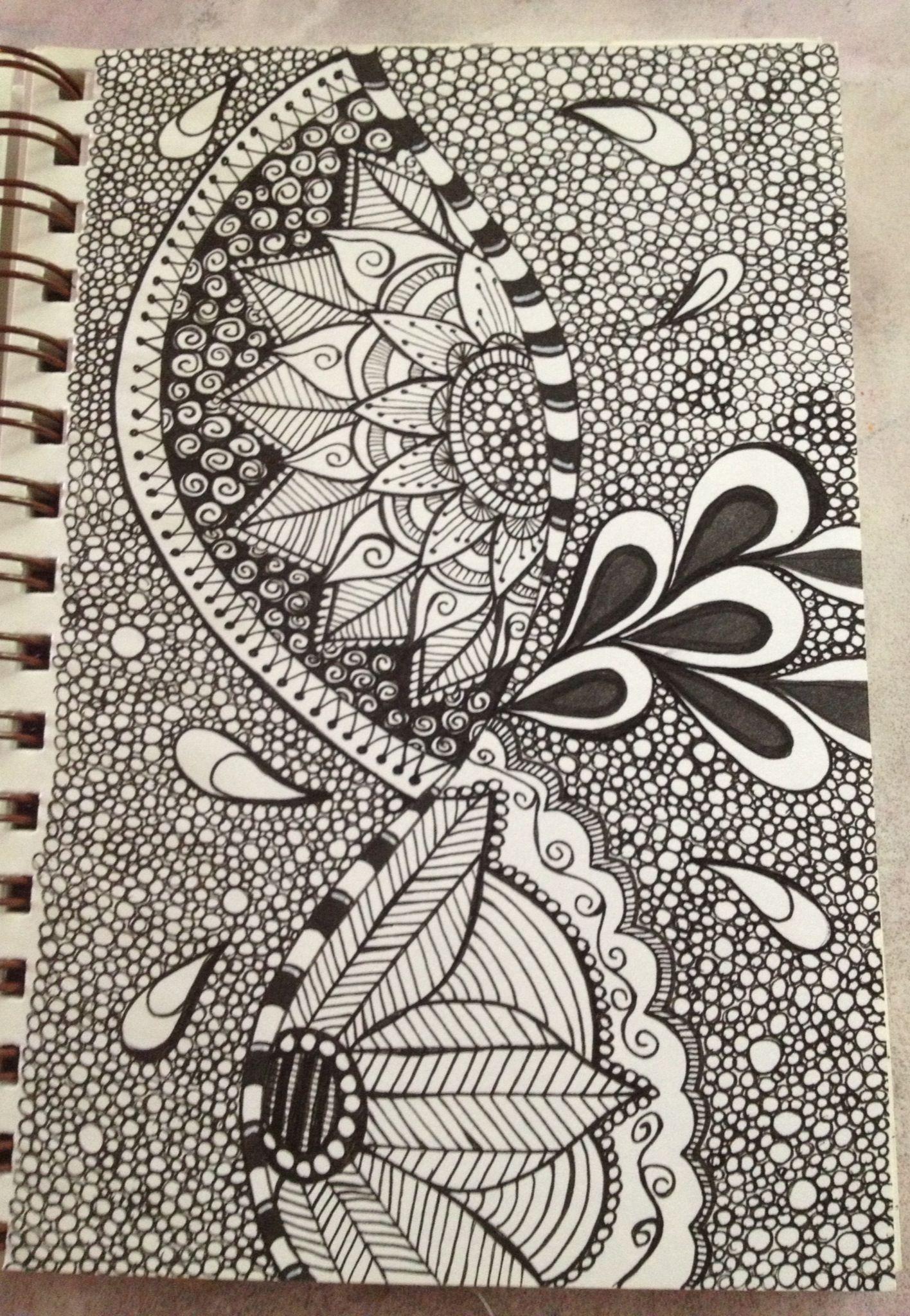 Flowers Zentangle Patterns