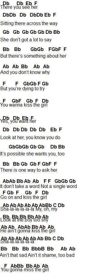 kiss the girl lyrics № 664718