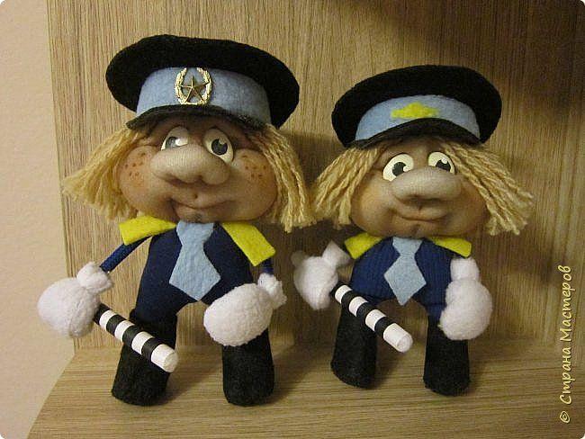 Кукла полицейский из капрона