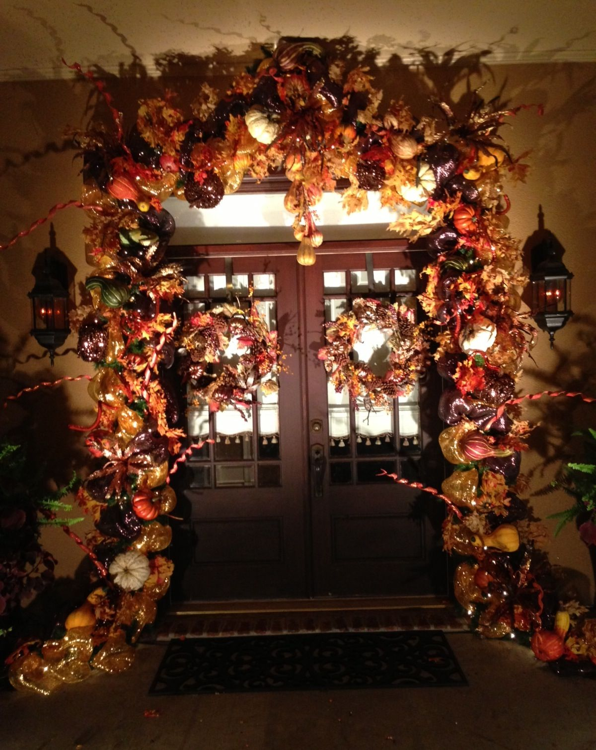 fall door decorations for the home pinterest. Black Bedroom Furniture Sets. Home Design Ideas