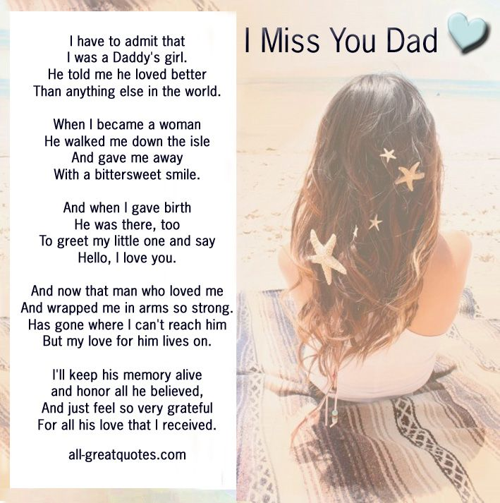 I Miss You Dad - I have to admit that I was a Daddy's girl ...