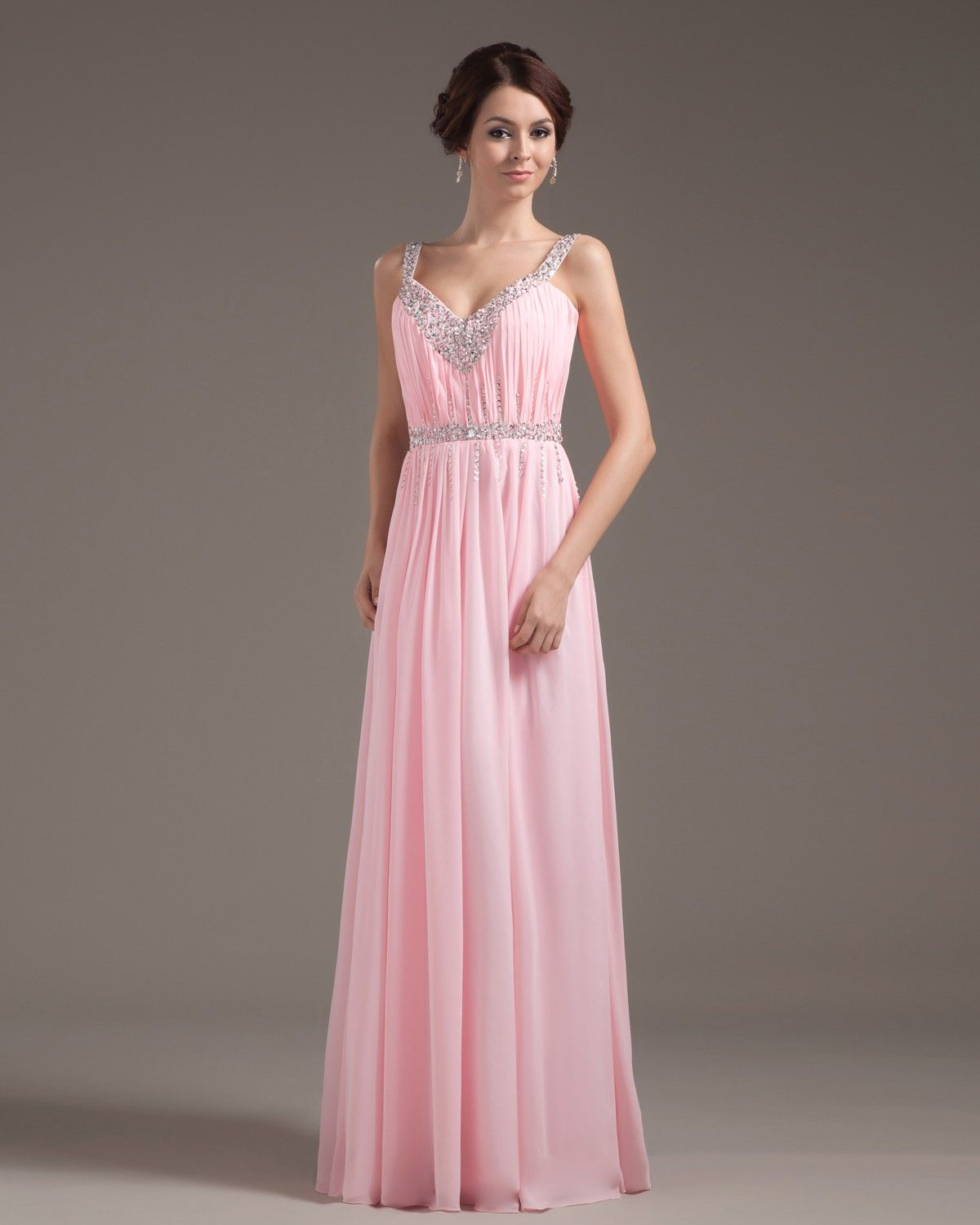 Simple pink dress Gowns