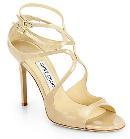 jimmy choo lang patent leather sandals shoes post photo
