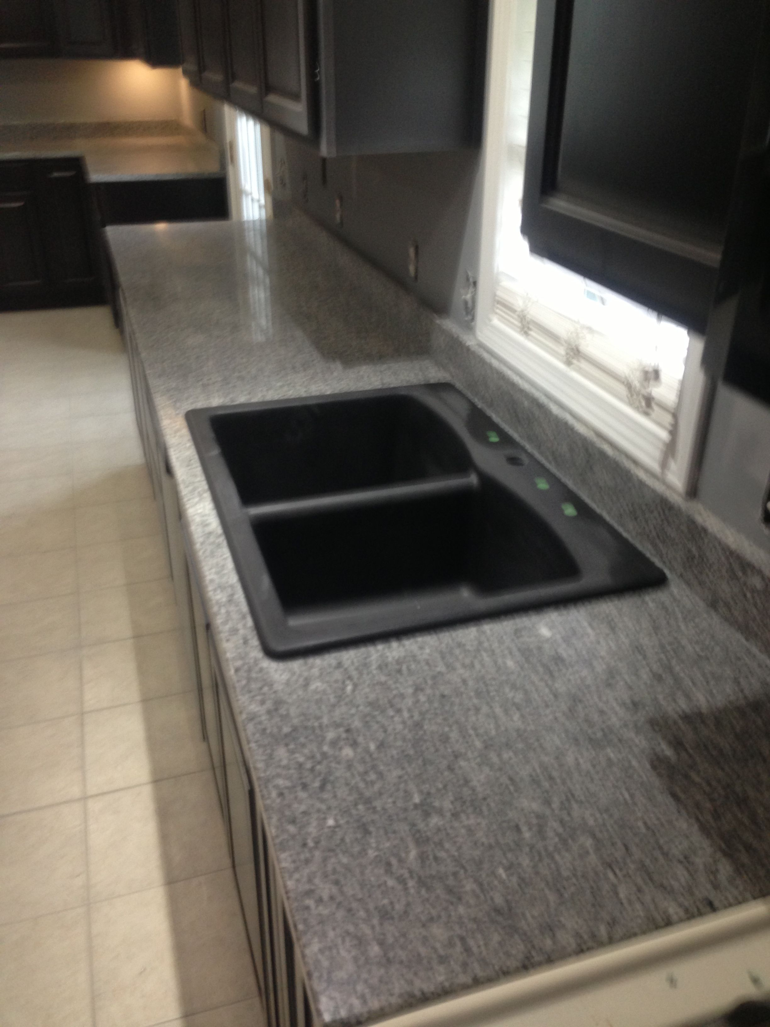 top mount black kitchen sink For the Home