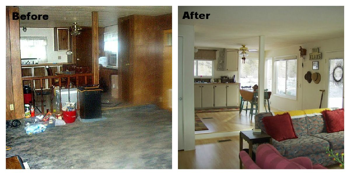 Home Makeovers Extraordinary With Mobile Home Living Room Makeover Image