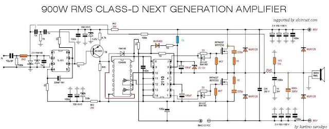 900w Class D Next Generation Power Amplifier In 2019 Class D Amplifier Pinterest Circuit