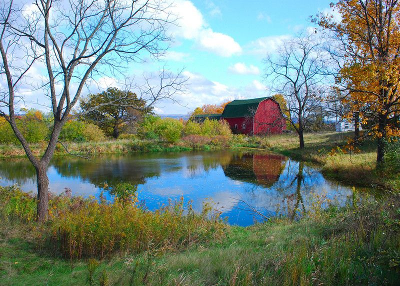 Farm Pond Barns Old Structures Pinterest