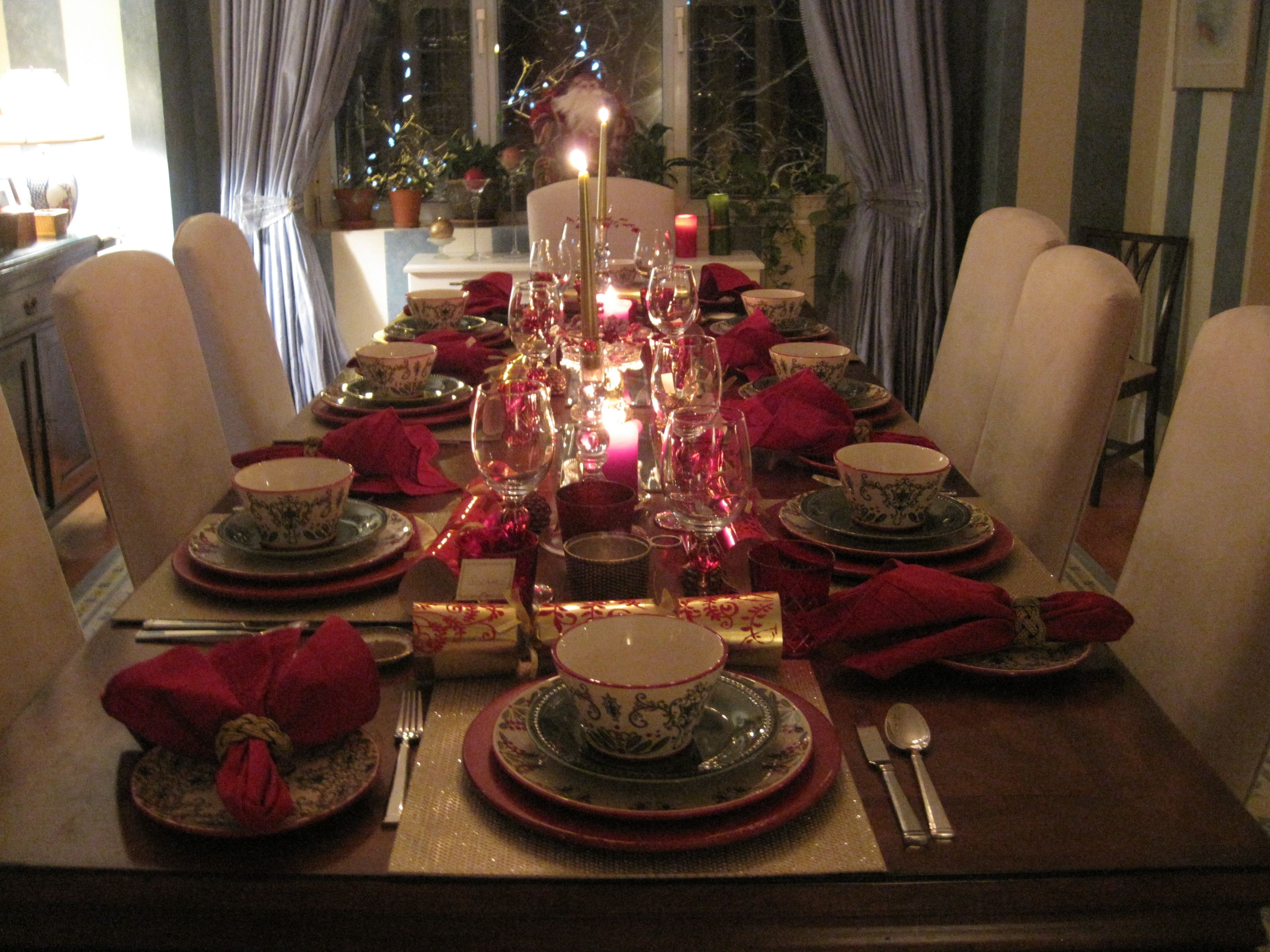my christmas dinner party table setting its my party