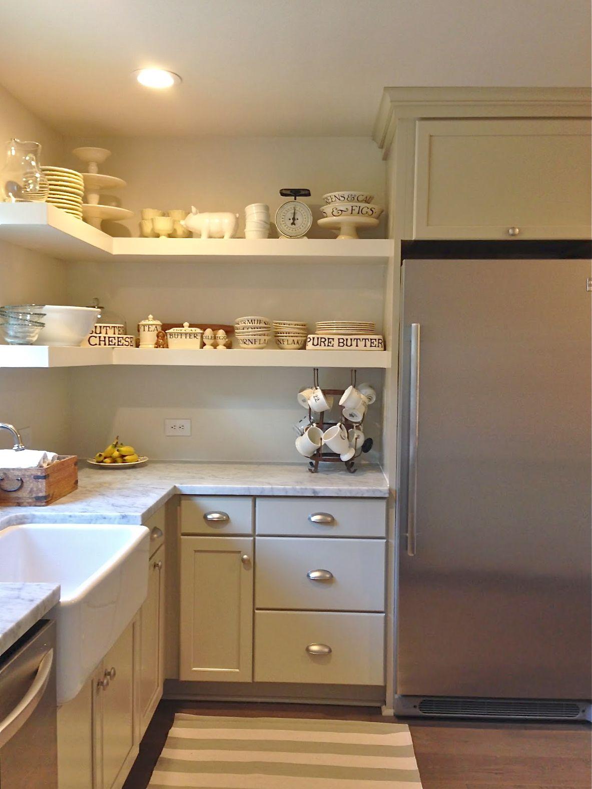Diy open shelving kitchens cozinhas pinterest