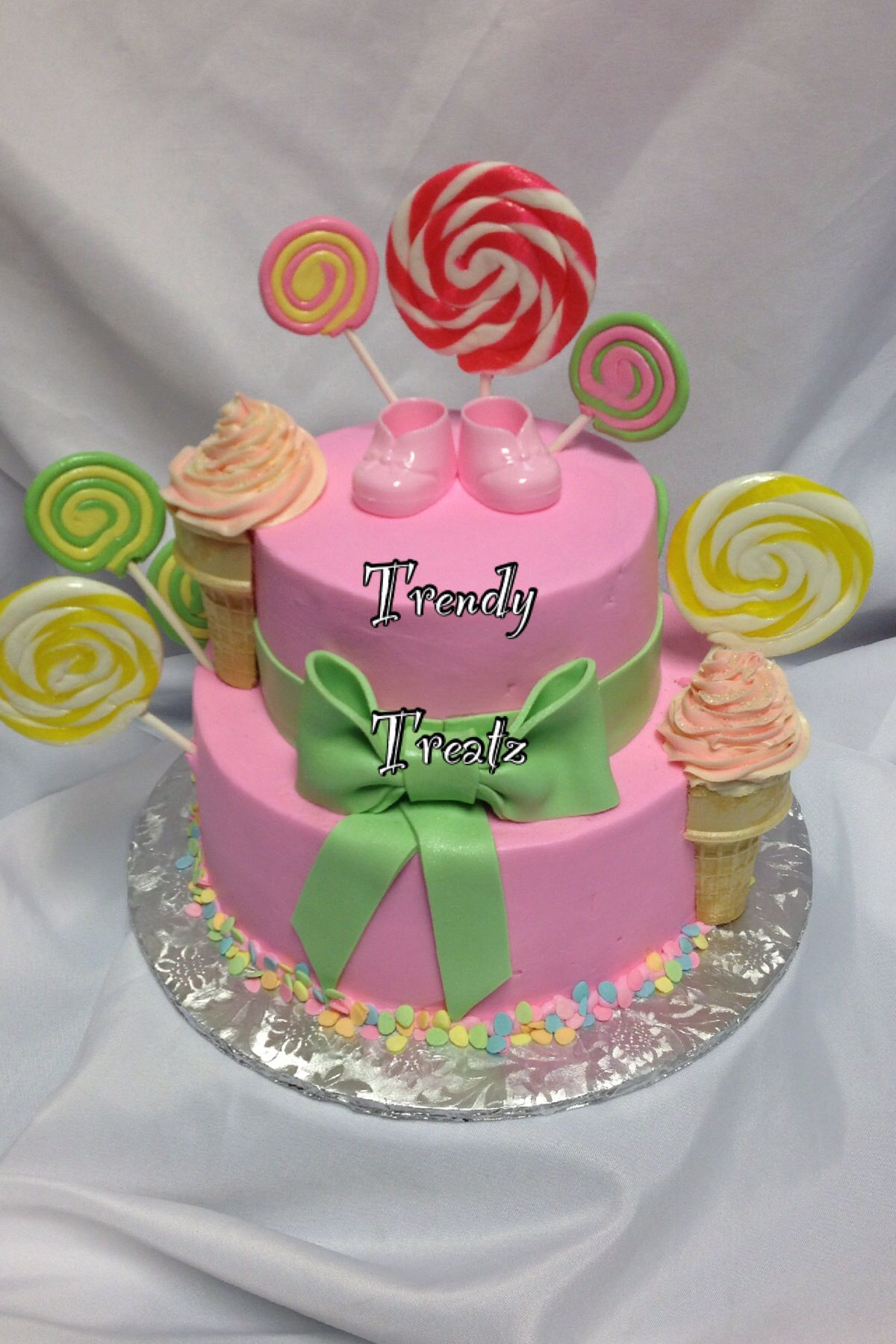 baby shower cake candy land theme cakes by trendy treatz in michiga