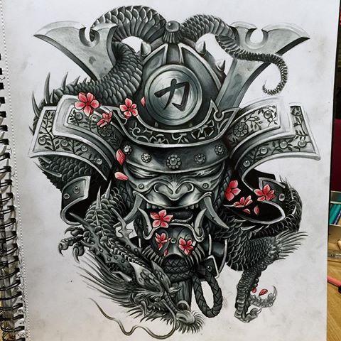 Imagen Relacionada Chien Binh Samurai Tattoo Samurai Mask Tattoo Japanese Warrior Tattoo