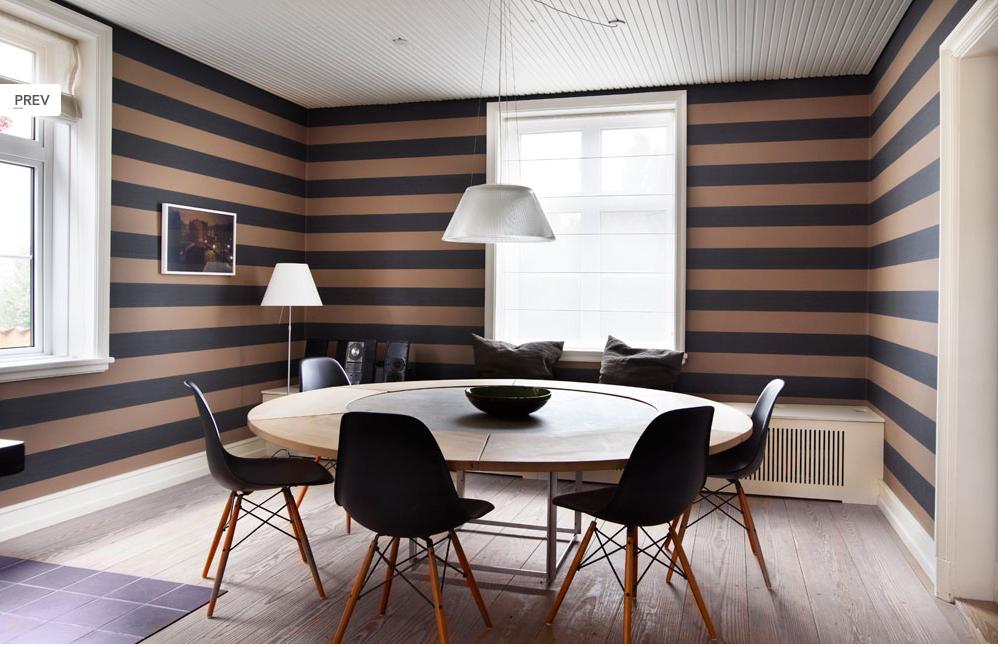 My kitchen farrow ball stripe wallpaper pinterest for Striped kitchen wallpaper