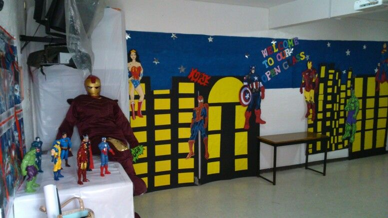Marvel Classroom Decor ~ Superheroes classroom decoration superhero