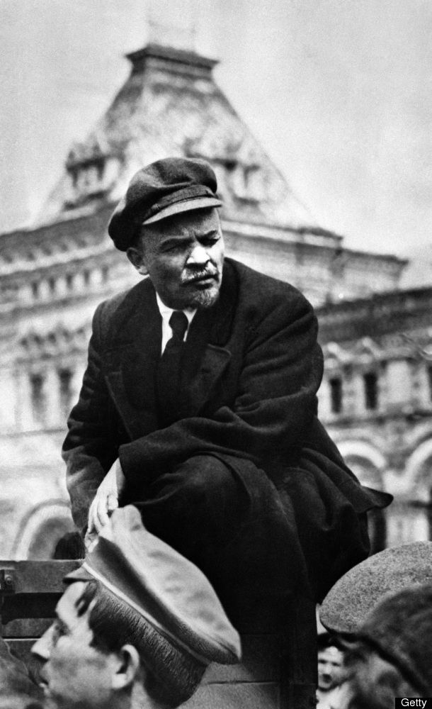 May Lenin Delivers Speech During The Parade Of