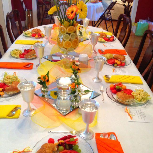 Yellow Wedding Table Decoration Ideas : Orange and yellow table decorations weddings