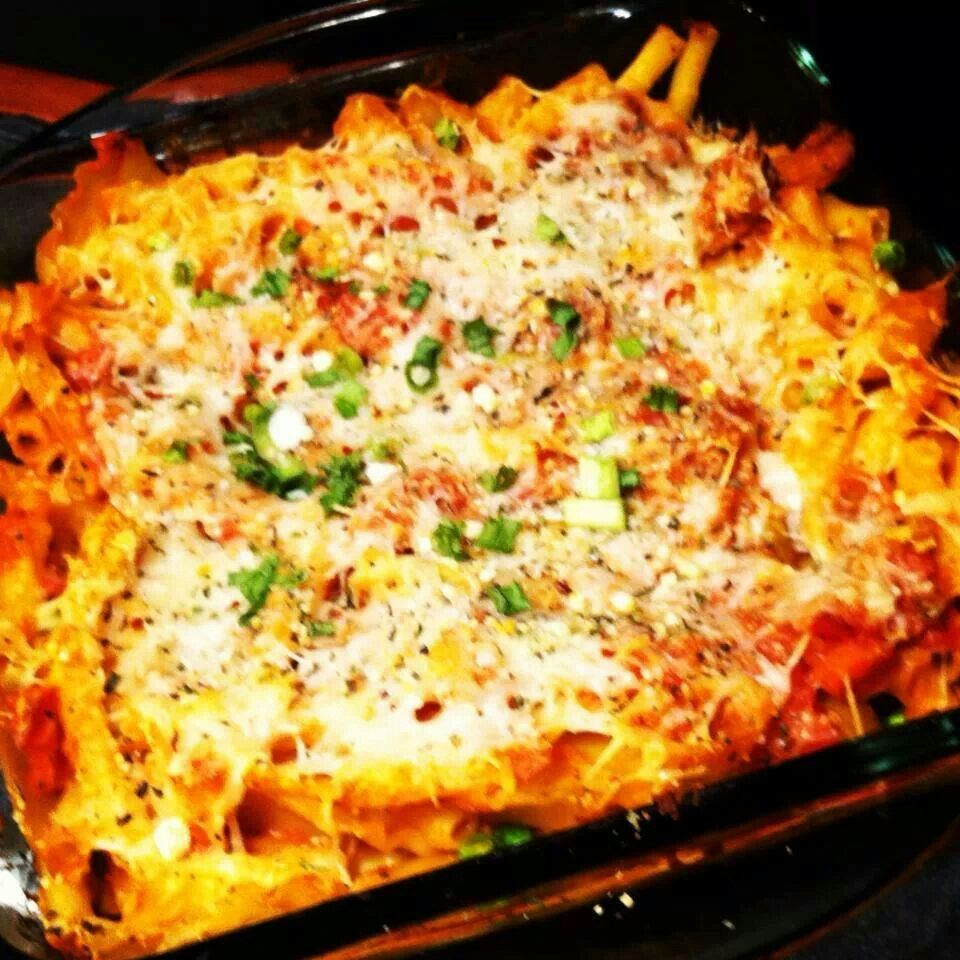 Three cheese baked ziti with spinach   receipes   Pinterest