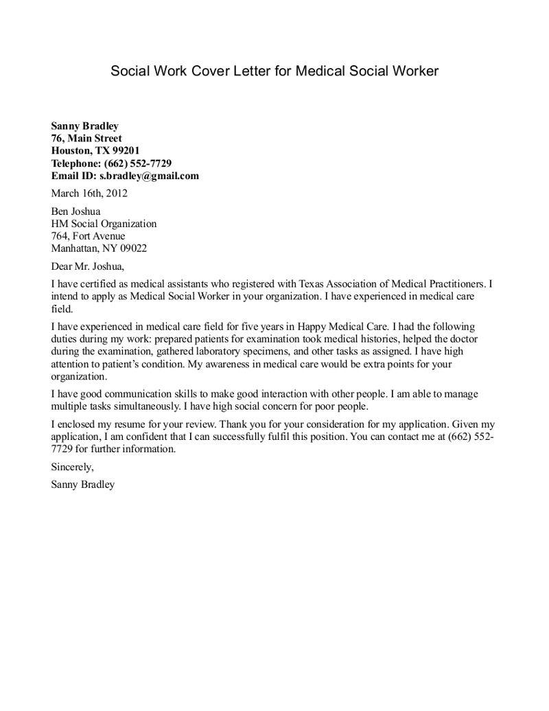 job cover letter medical