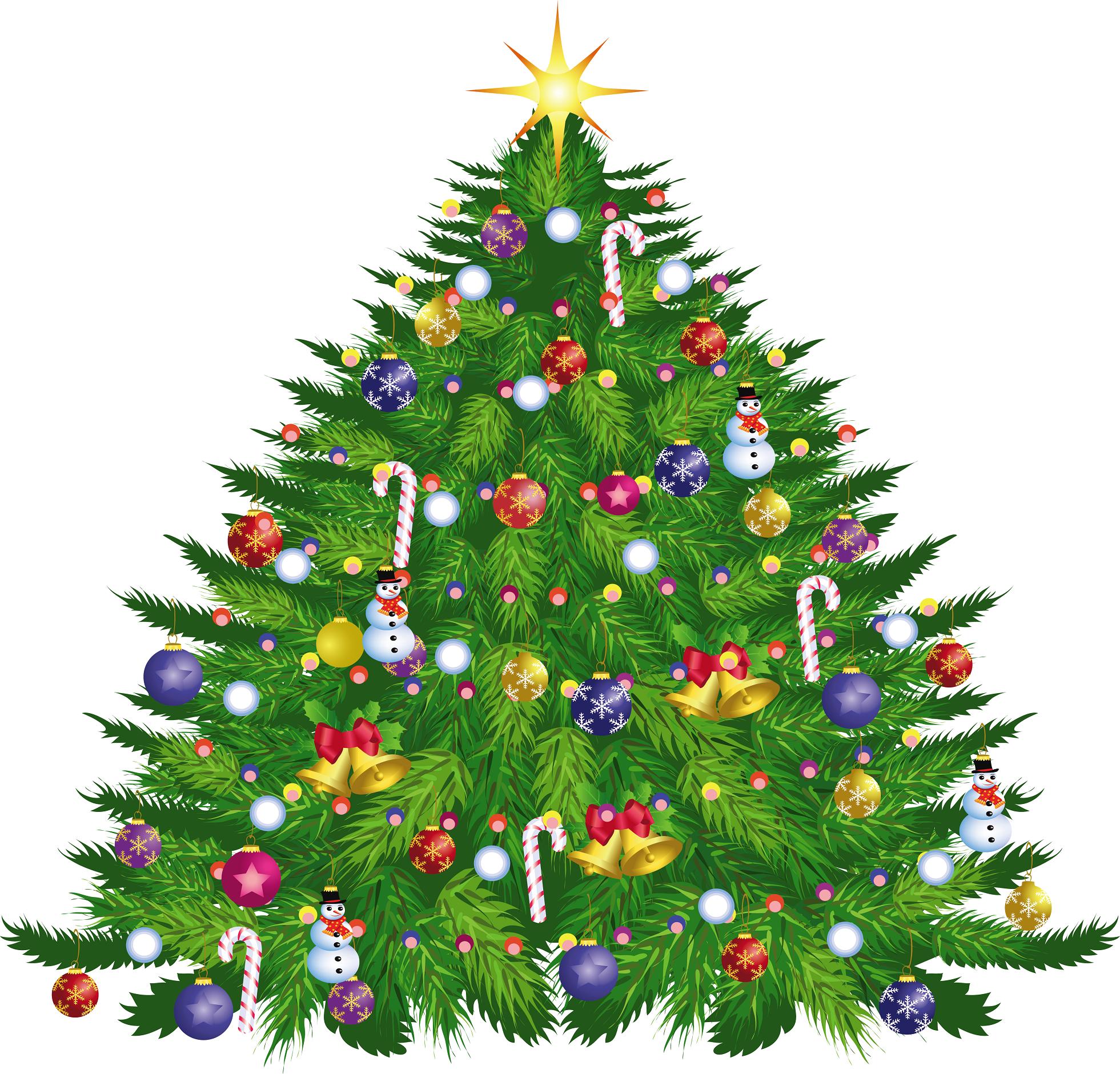 large christmas tree clip art free - photo #39