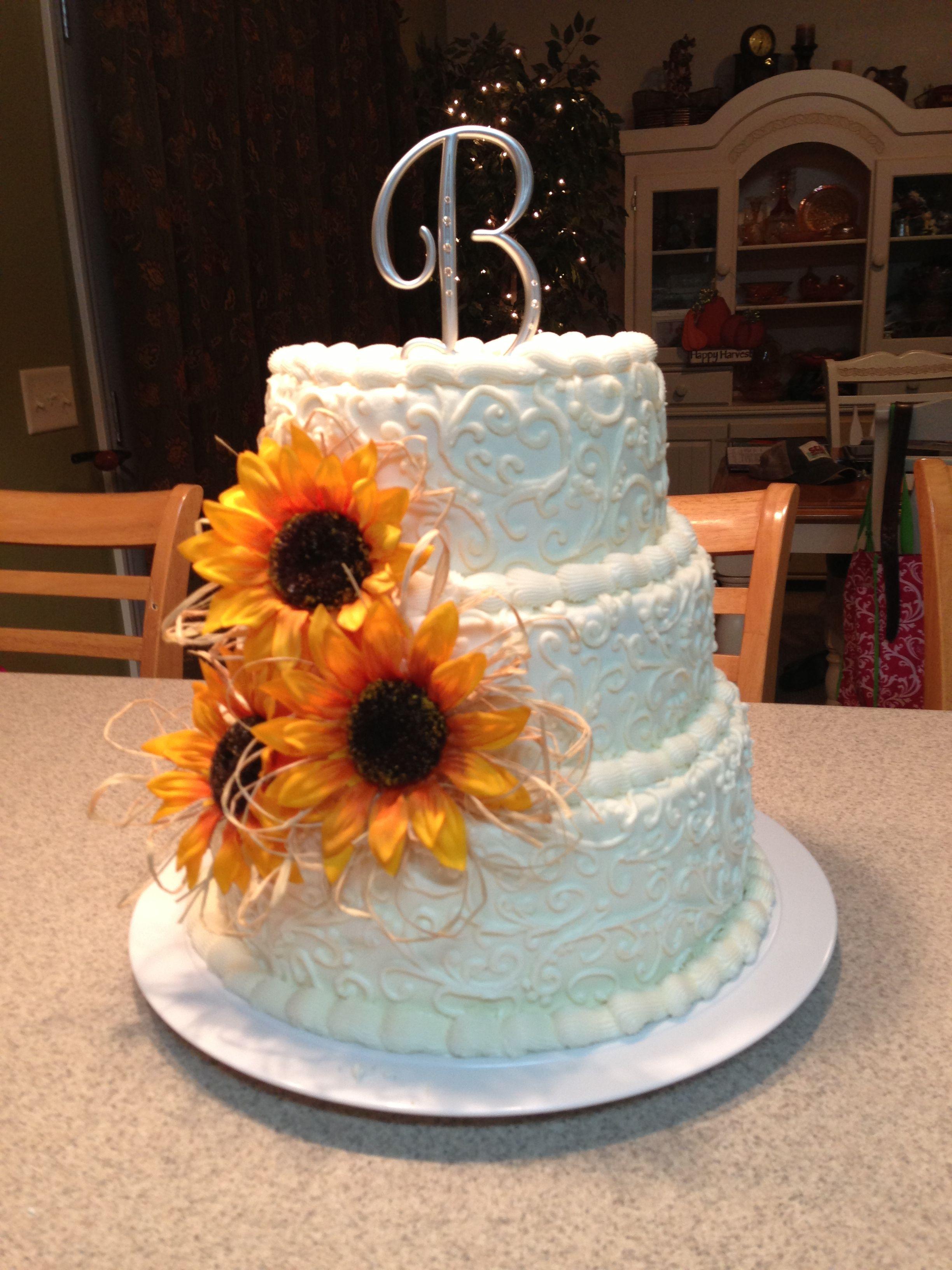 Sunflowers Wedding Cupcake Cake Ideas and Designs