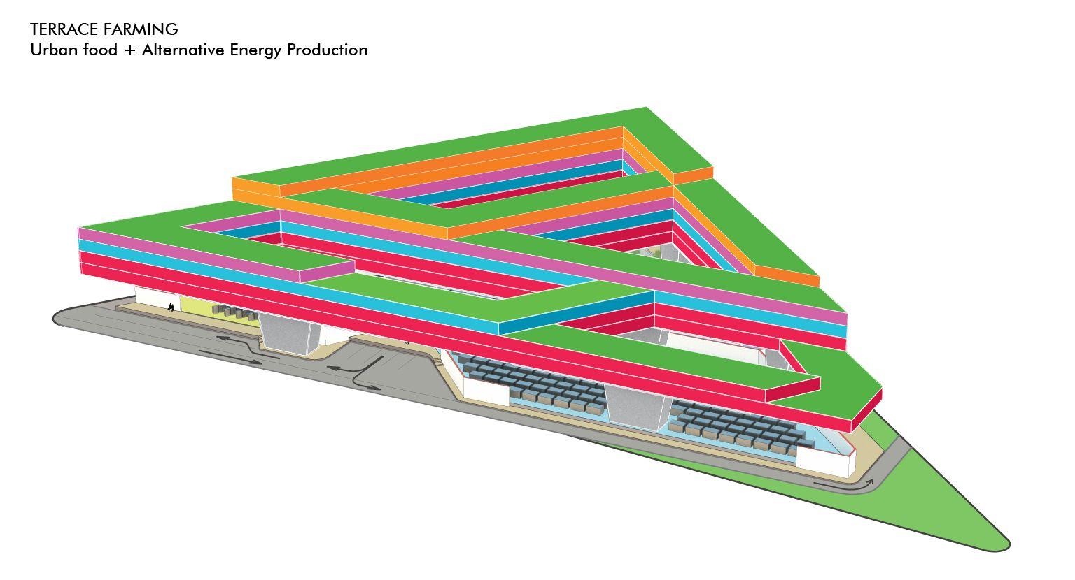 terrace axonometric