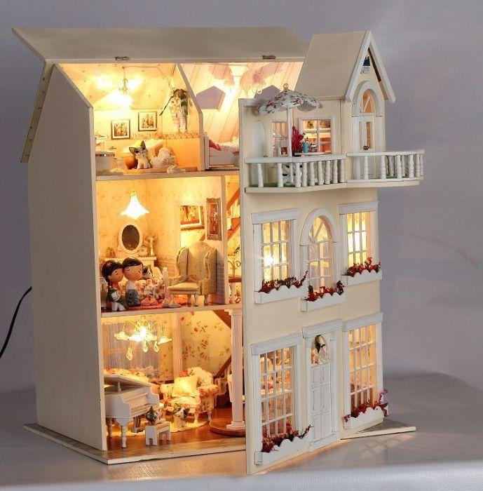 Из картона кукольный домик для барби