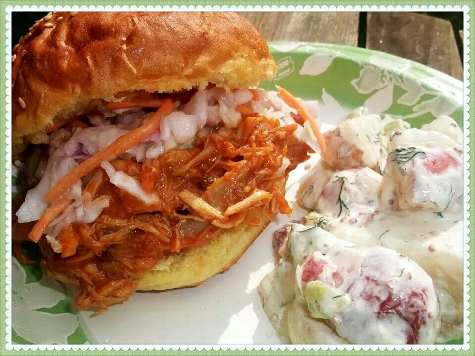 Barbecue pulled chicken sandwiches | recipes | Pinterest