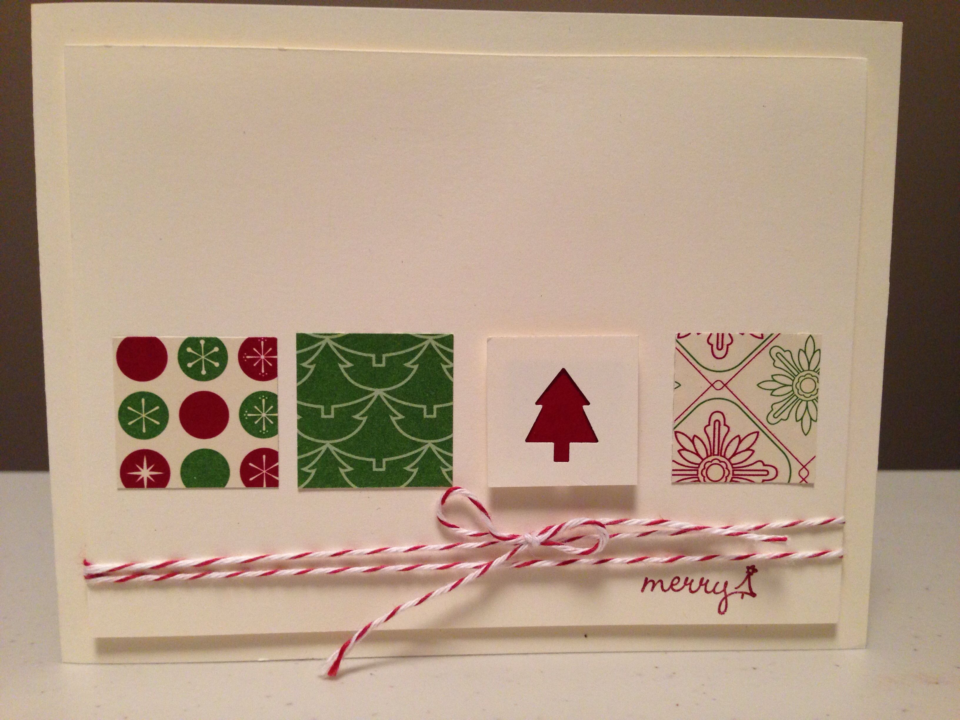 Stampin up christmas card idea stampin up pinterest