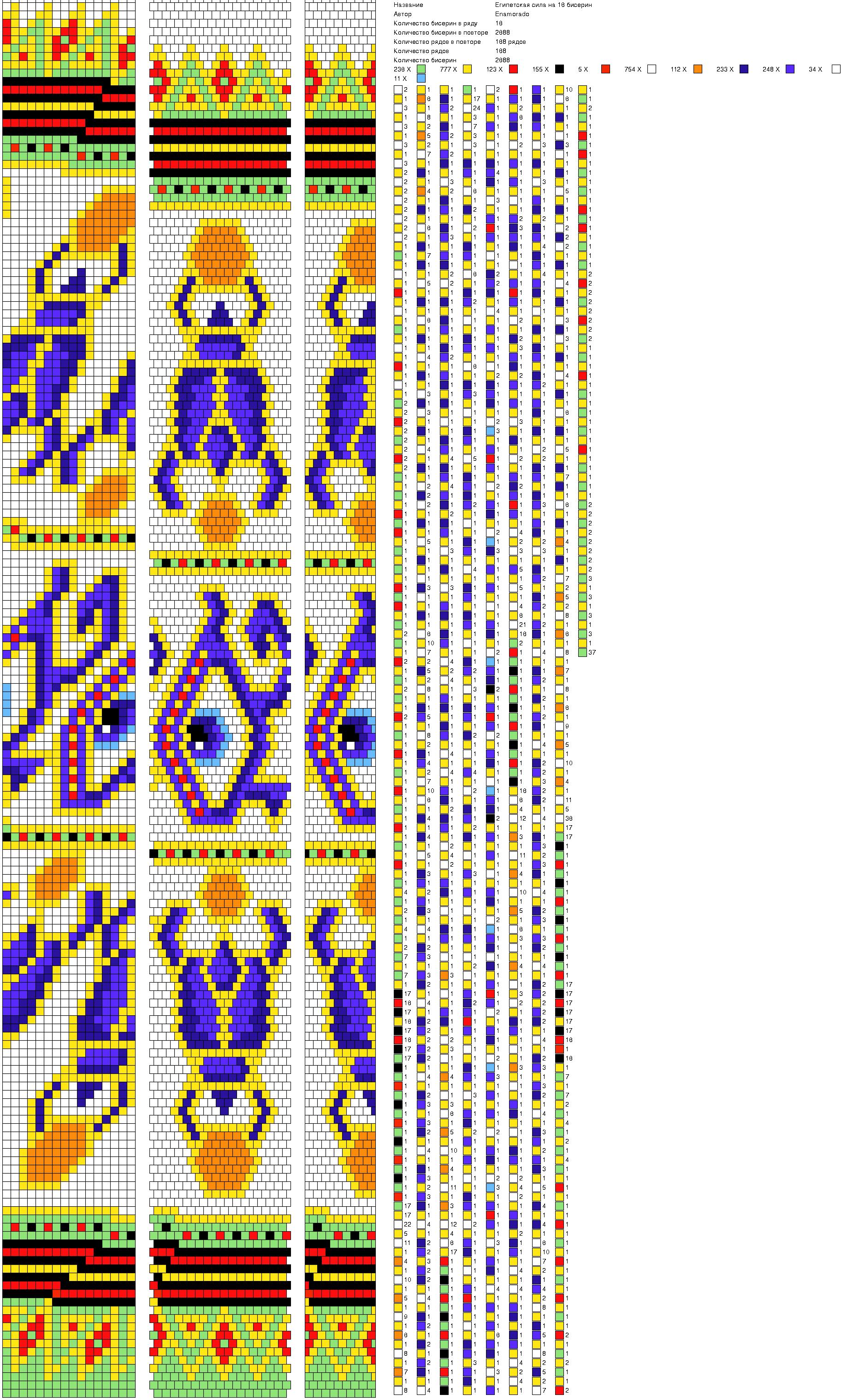Схема на жгут из бисера знаки зодиака