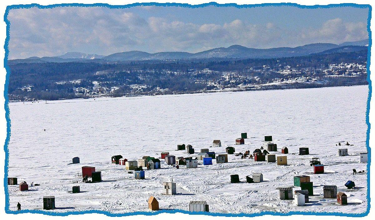Fishing Shanties On Lake Champlain Vermont Pinterest