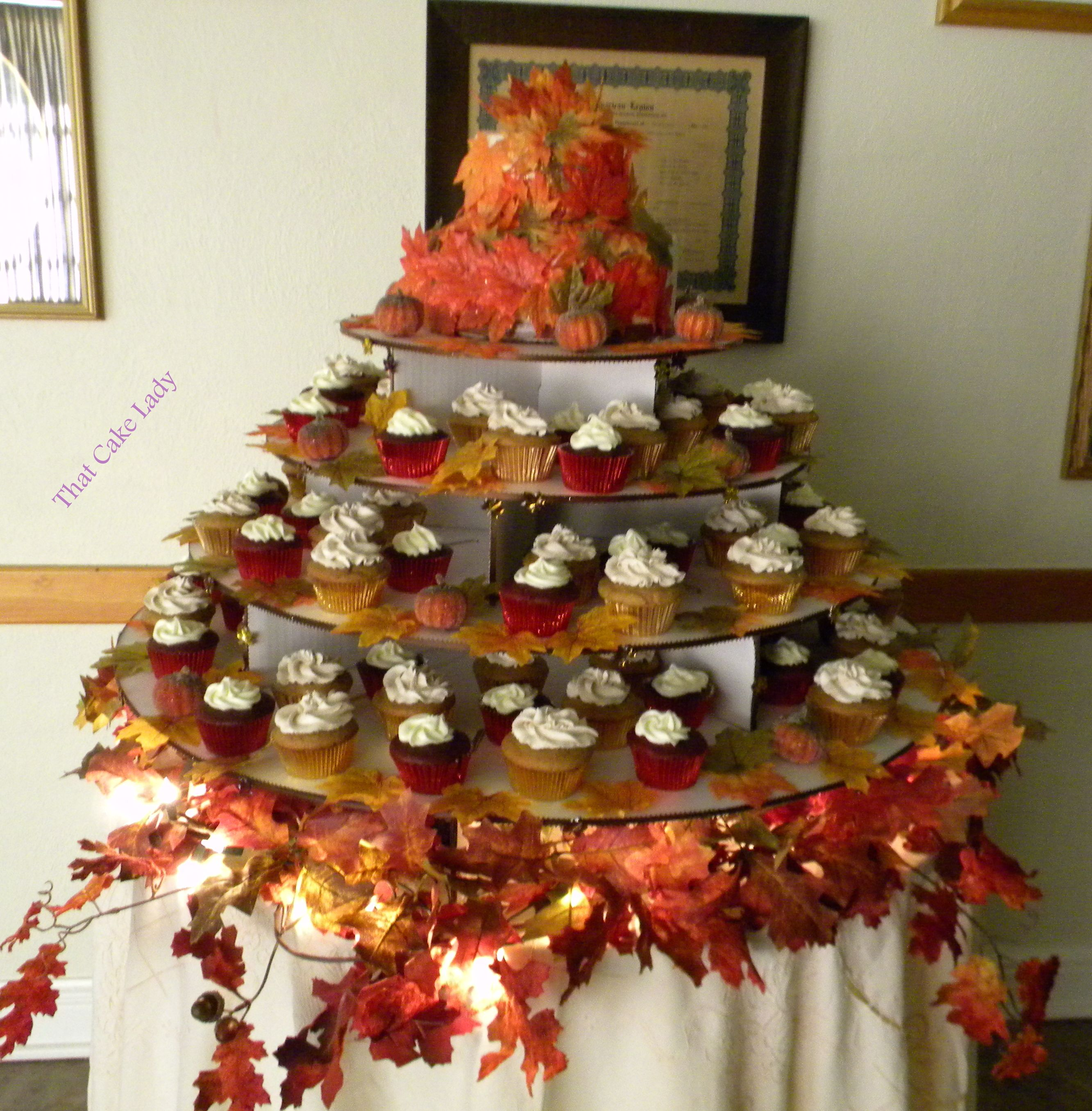 Fall Wedding cupcake tower Cupcake Towers