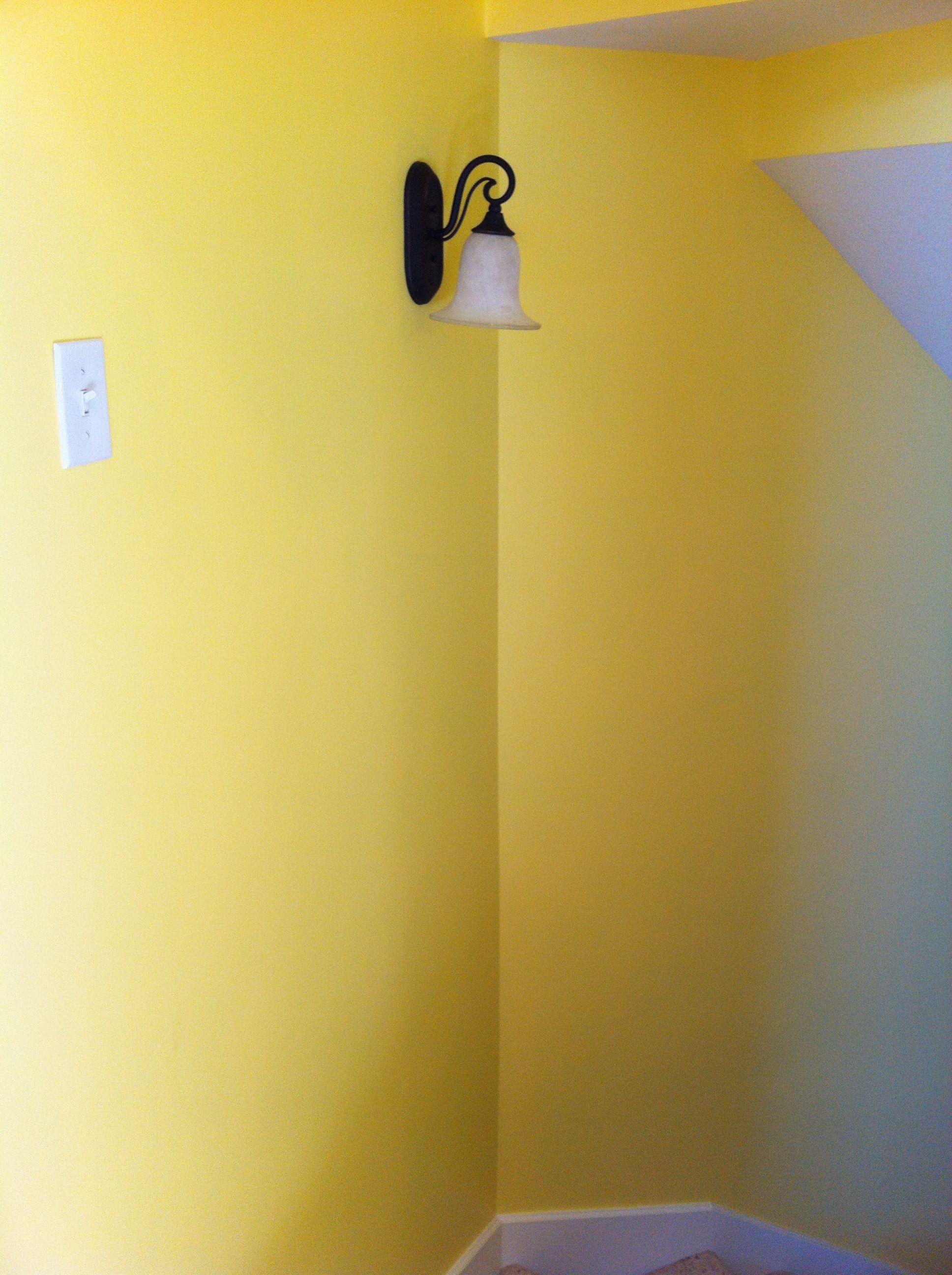 Yellow walls white
