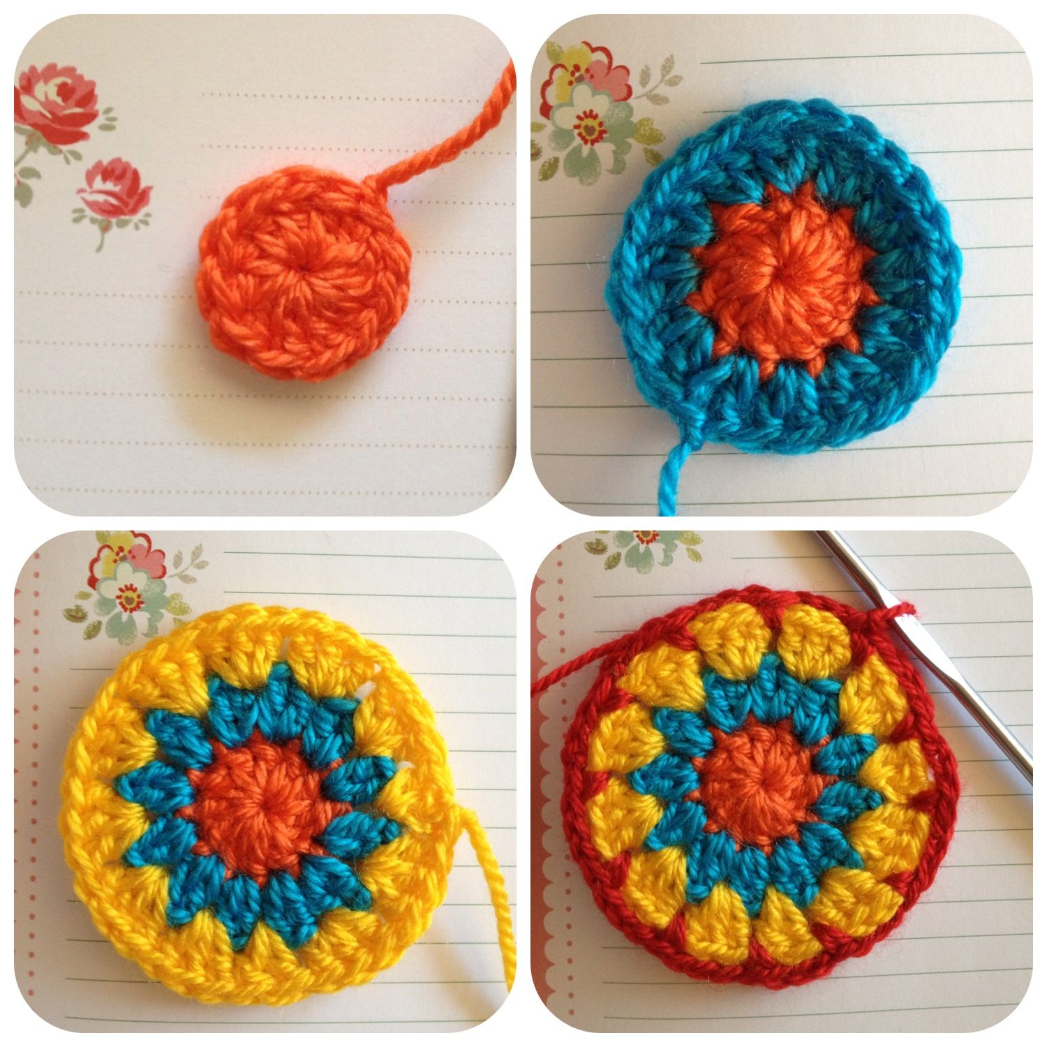 Crochet pattern Granny games Pinterest
