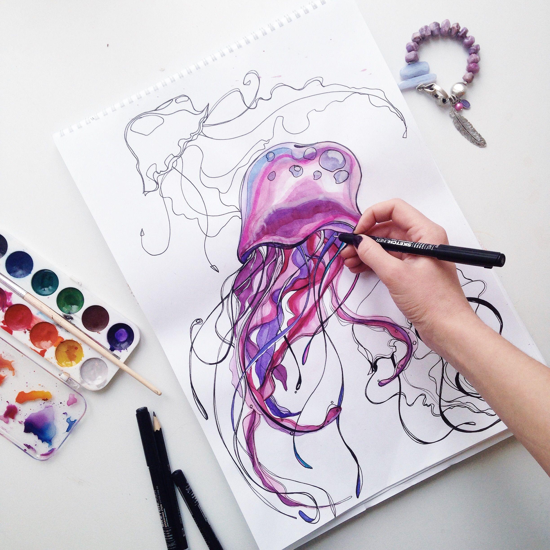 Акварель крутые рисунки