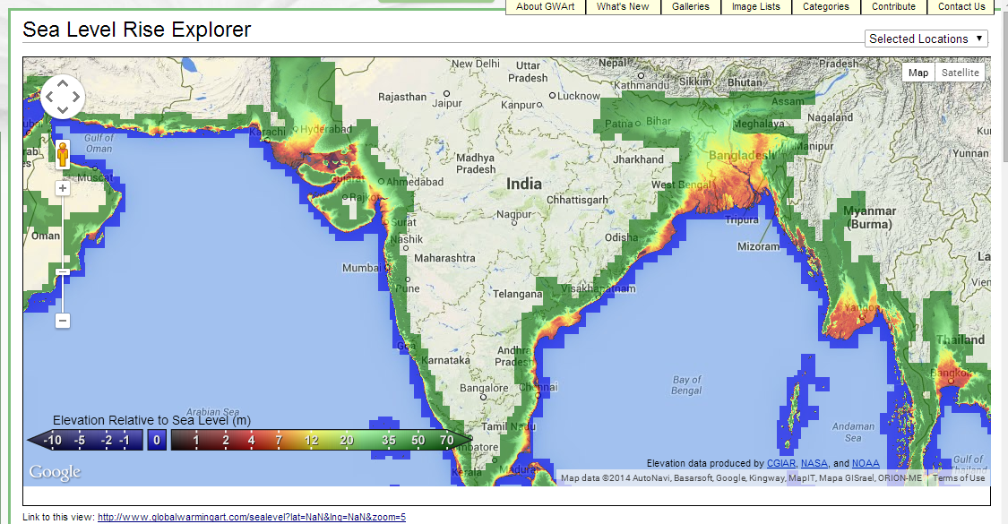 Interactive Sea Level Explorer The Map Shown Above